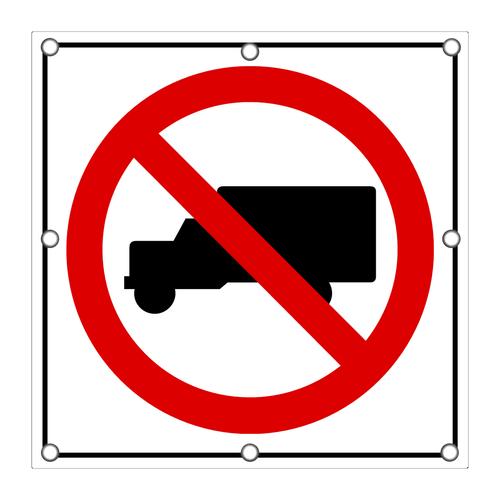 R5-2 No Trucks Sign