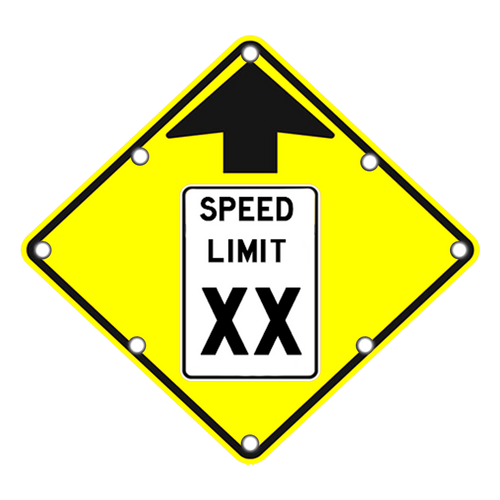 Speed Limit Ahead Sign