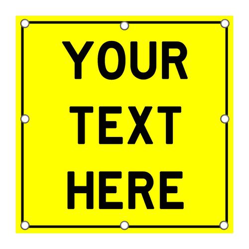 LED Custom Square Sign - Yellow