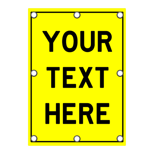 Custom Rectangle Sign - Yellow