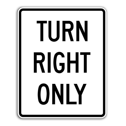 R3-31 Turn Right Only