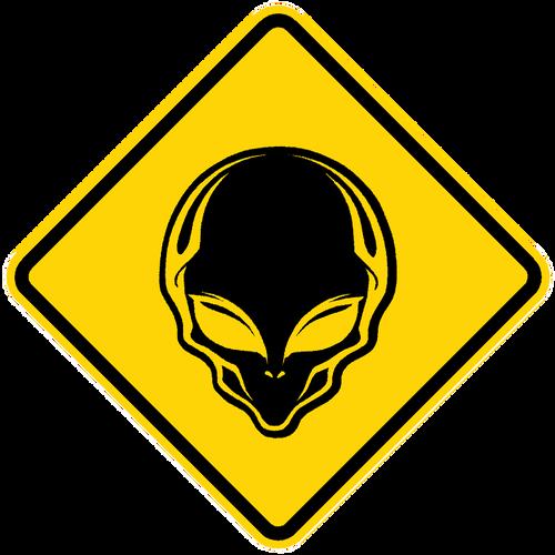 Alien Crossing Sign