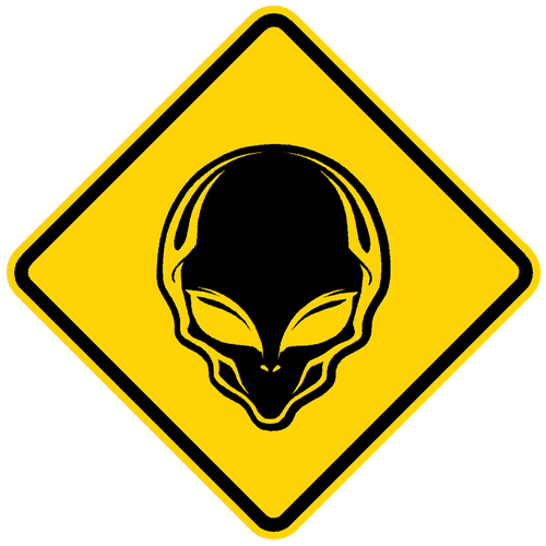 Alien Crossing Sign