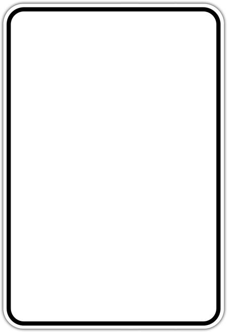 black border white background sign blank