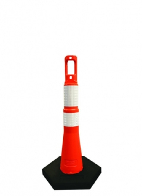 "Navicade 28"" orange/black and white traffic chanelizer cones"