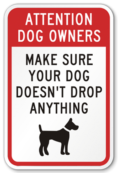 Dog Waste Sign