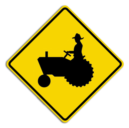 W11-5 Farm Machinery Crossing Sign