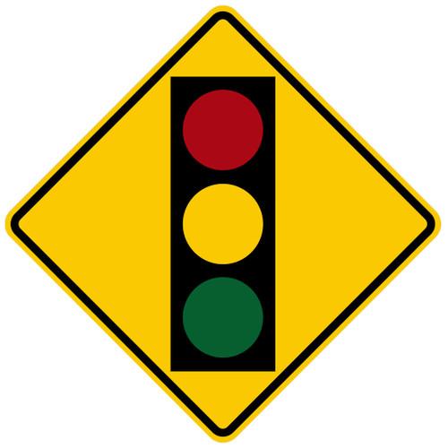 W3-3 Signal Ahead Symbol Sign