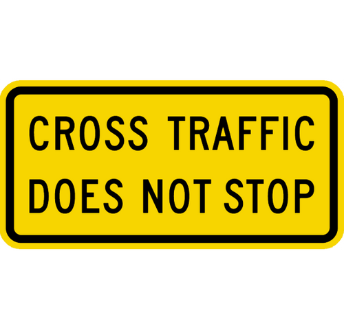 cross traffic does not stop