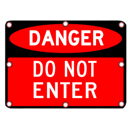 DANGER DO NOT ENTER SIGN