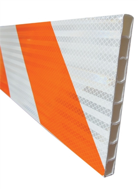 "8' x 8"" Plastic Barricade Boards with HIP Sheeting"