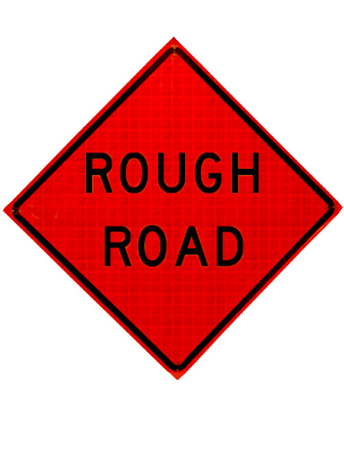 w8-8 rough road roll up sign