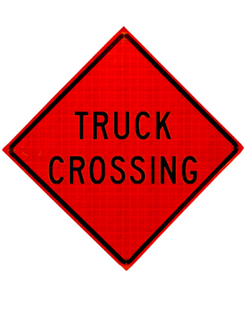 W8-6 TRUCK CROSSING ROLL UP SIGN