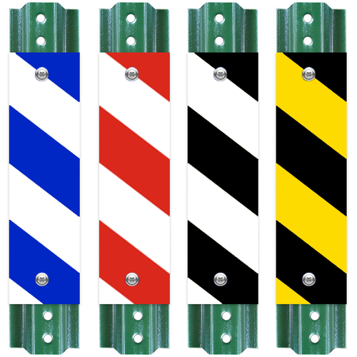Striped Sign Post Reflecors