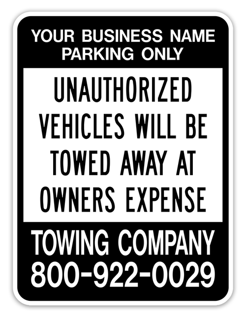 UNAUTHORIZED VEHICLES WILL BE TOWED AWAY