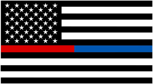 Thin Blue Line First Responder American Flag Decals