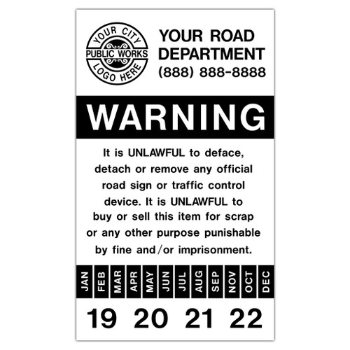 Sign Date Sticker - Style 7