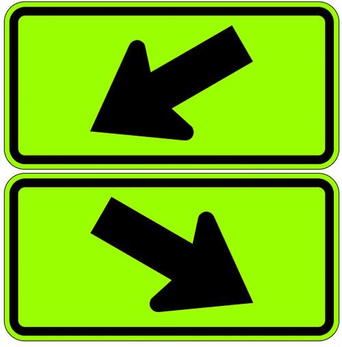 W16-7P Diagonal Downward Arrow YG