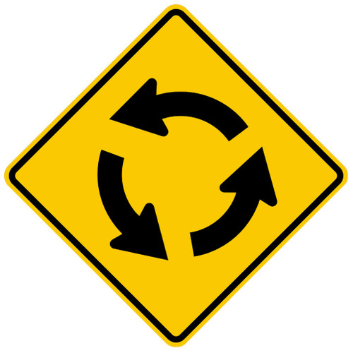 W2-6 Roundabout Symbol Sign