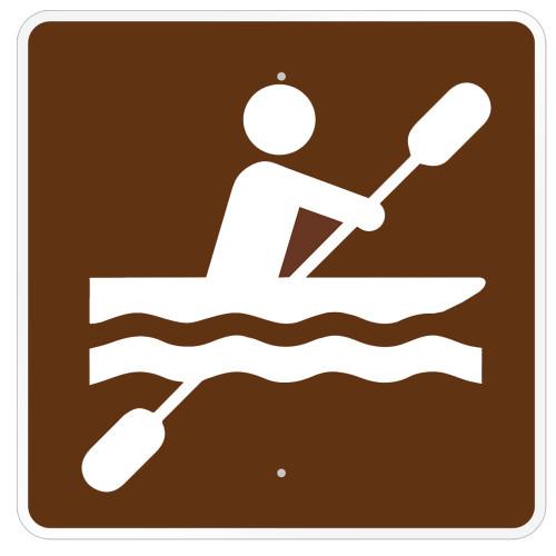 Kayaking Symbol Sign