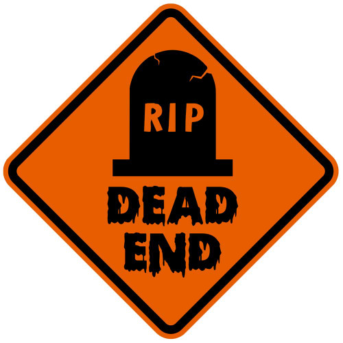 Spooky Dead End Sign