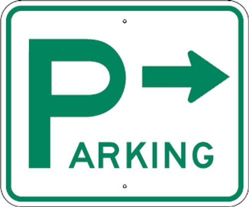 D4-1 Parking Sign with Right Arrow