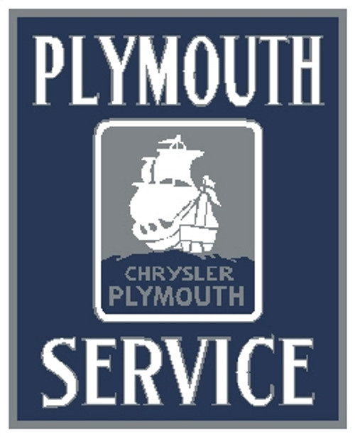Plymouth Service Sign