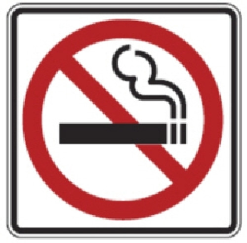 """Black, Red, and White """"No Smoking"""" Sign, 18"""" x 18"""", High Intensity Prismatic Reflecitve"""