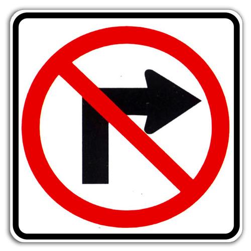 R3-1 No Right Turn Symbol Sign
