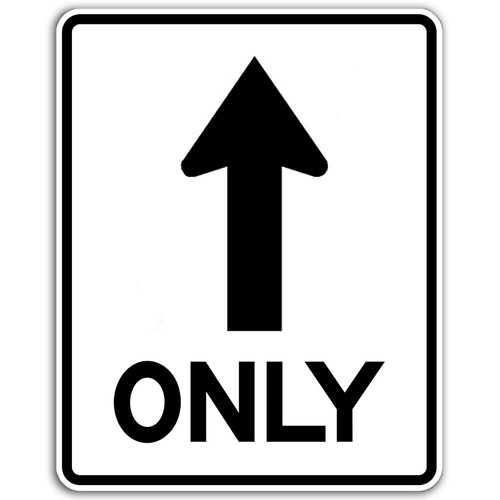 R3-5A Thru Arrow Only Sign