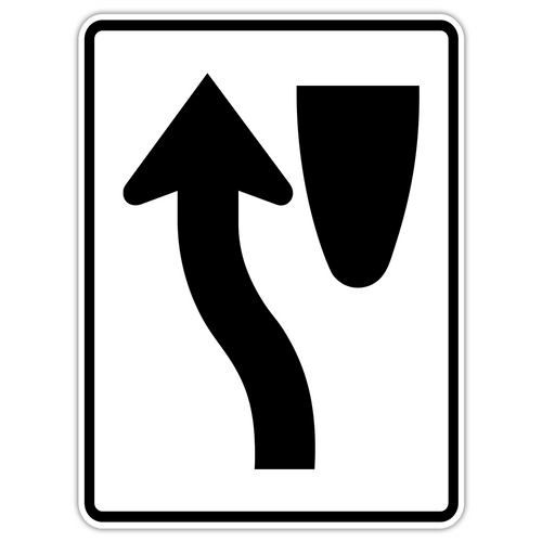 R4-8 Keep Left Sign