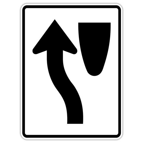 R4-8 Keep Left Sign