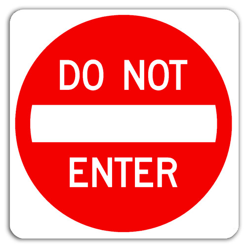 R5-1 Do Not Enter Symbol