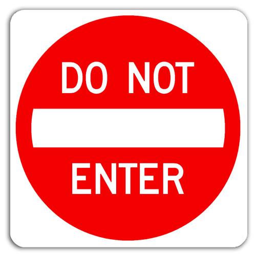 R5-1 Do Not Enter Symbol