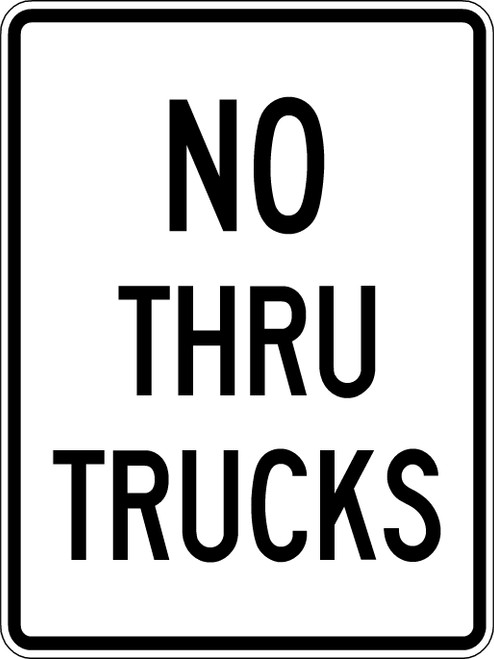 R5-12 NO THRU TRUCKS