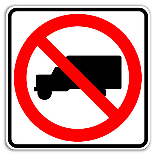 No Trucks Symbol | No Trucks Sign