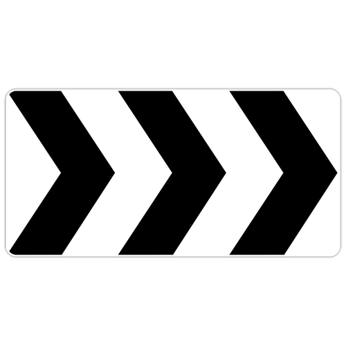 R6-4A Roundabout Directional (3 Chevrons)