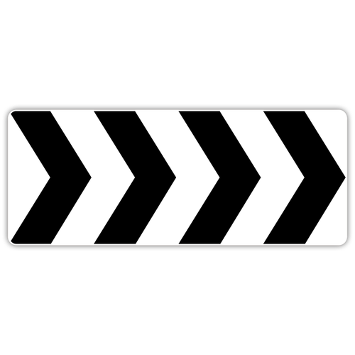 R6-4B Roundabout Directional (4 Chevrons)