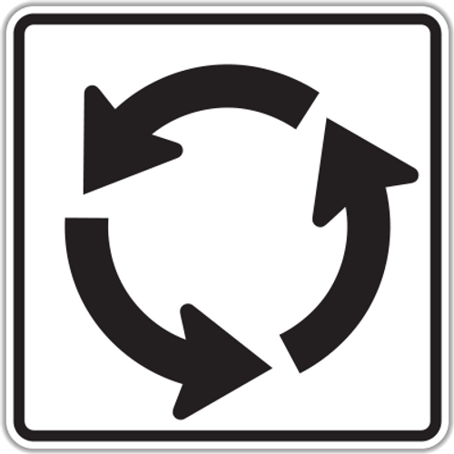 R6-5P ROUNDABOUT CIRCULATION