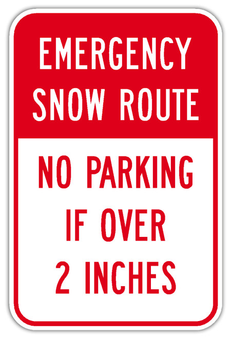 Emergency Snow Route Sign