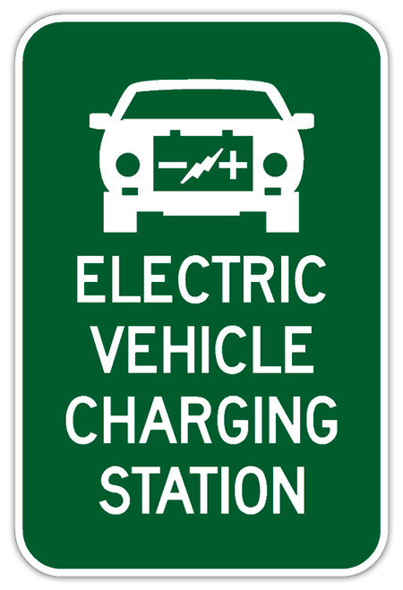 Electric Vehicle Charging Station Sign