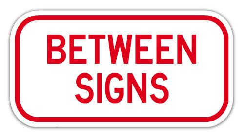 Between Signs