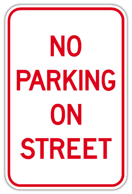 No Parking On Street Sign