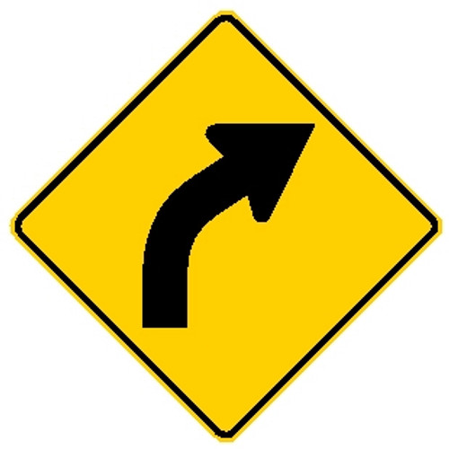 Right Curve Sign W1-2R MUTCD