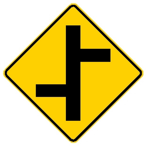 W2-7L OFFSET SIDE ROAD LEFT