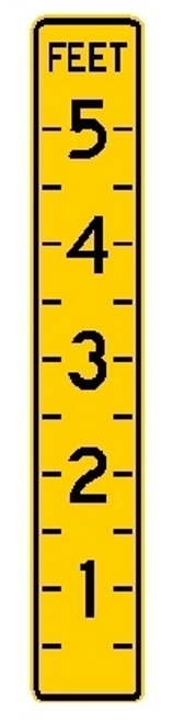 Black, and Yellow sign, rectangular