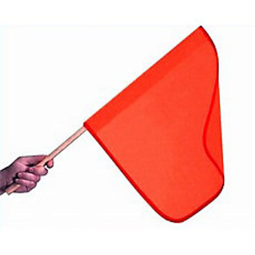 Orange Vinyl Safety Flag