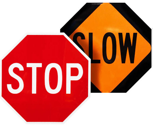 stop slow sign