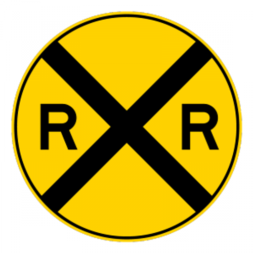 W10-1 Railroad Advance Warning Sign