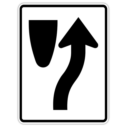 R4-7 Keep Right Symbol Sign